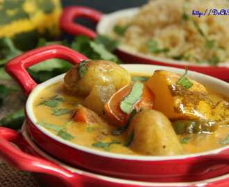 Yellow cucumber/Mangalore Savathekayi baby potato curry