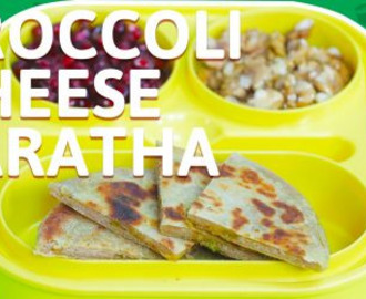 Broccoli Cheese Paratha Recipe