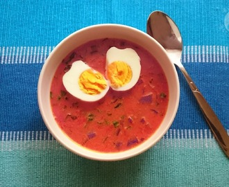 Spring beetroots soup (botwinka)