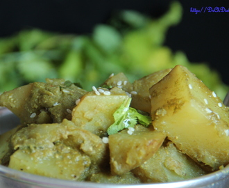 Potato in coriander sauce