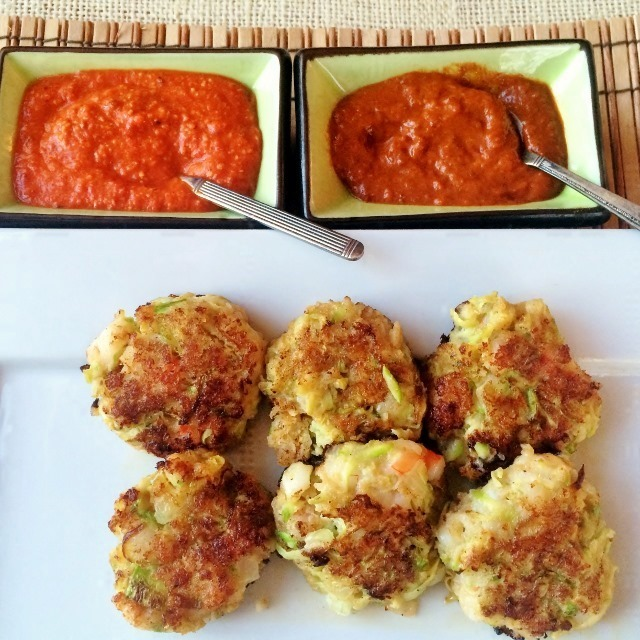 Zucchini & Shrimp Fritters for Slow Carb Diet