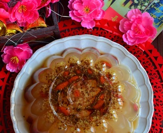 CNY Dishes # 5 - 金花朵朵齐迎春 | 黄金桂花糕 Osmanthus Jelly
