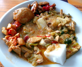 Lontong Sayur Medan (Vegetables in Coconut Broth Medan Style)