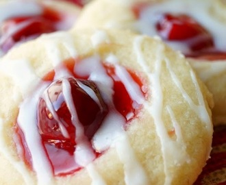Cherry Pie Shortbread Cookies