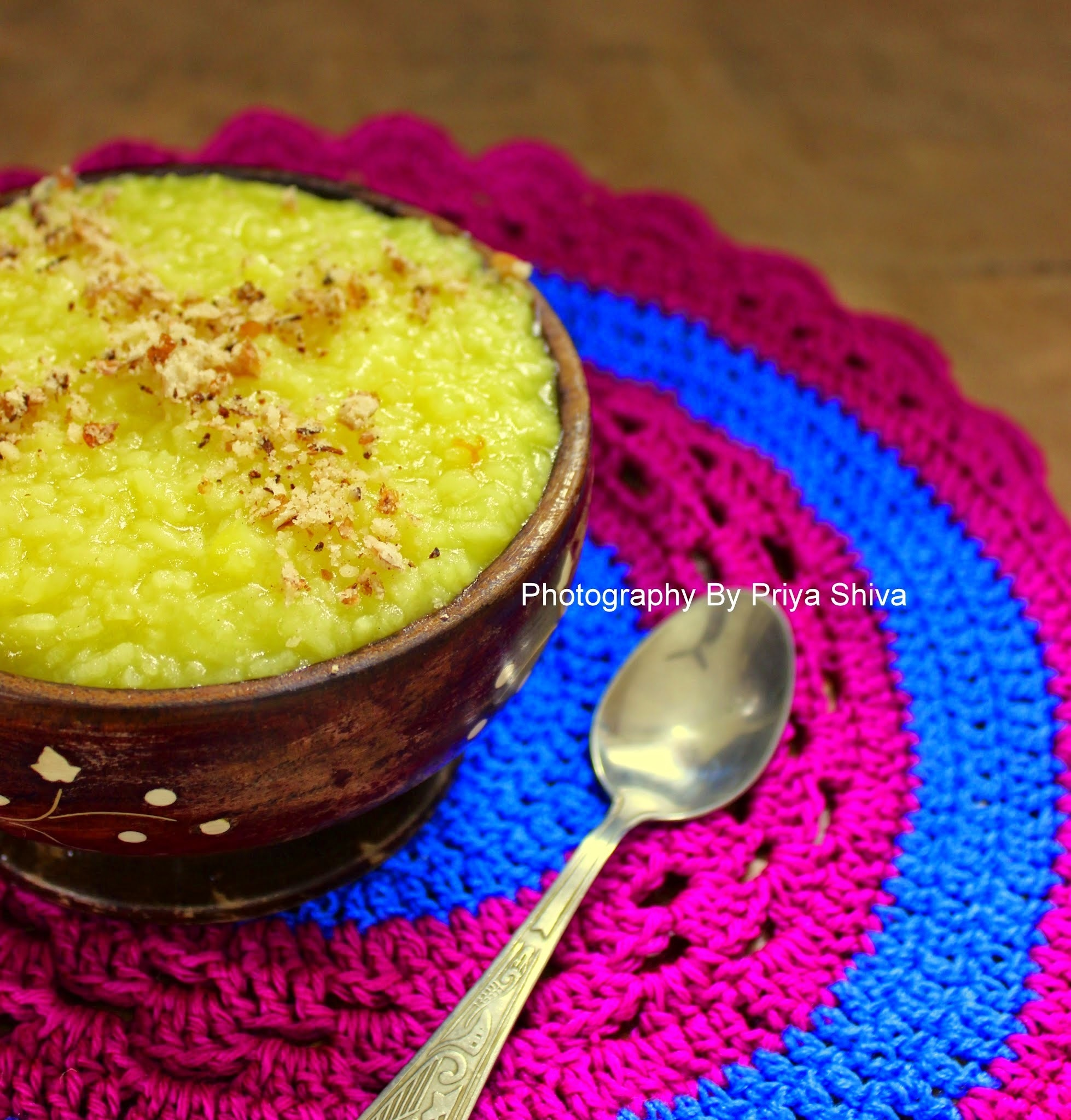 Sholeh Zard / Persian Saffron Rice Pudding