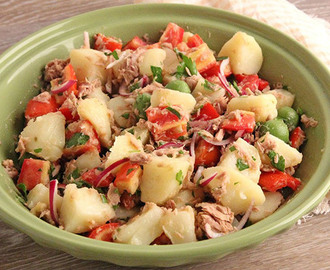 Salade de pommes de terre au thon Weight Watchers