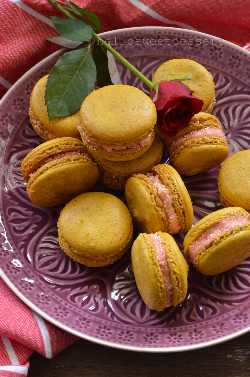 Hazelnut Macaron@Honey Cream (Super Easy French macaron recipe)