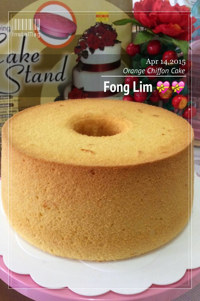 ~~  Orange Chiffon Cake  鲜橙戚风蛋糕 ~~