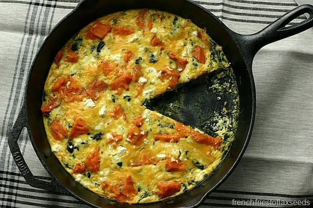 Power Up With Green – Sweet Potato and Spinach Frittata
