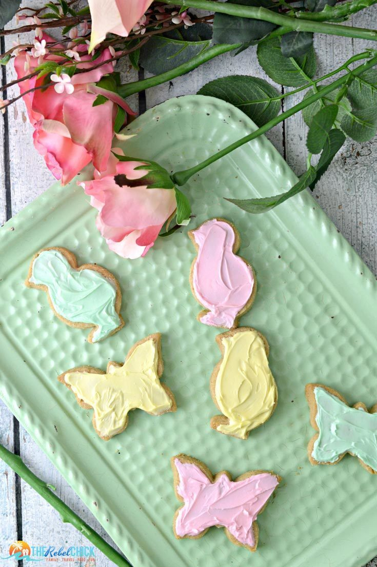 Pretty Easter Shortbread Cookies Recipe