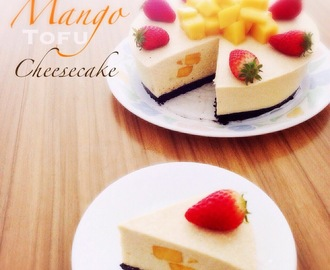 Easy Non-bake Mango Tofu Cheesecake 简易免烤芒果豆腐芝士蛋糕 (中英食谱)