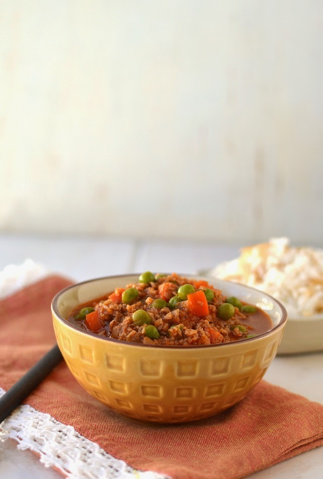 Vegetarian Lebanese Stew with Peas and Rice (Bazelle with Riz) for #Food of the World