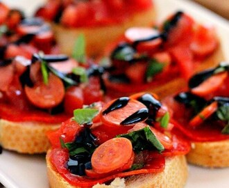 Pepperoni Bruschetta