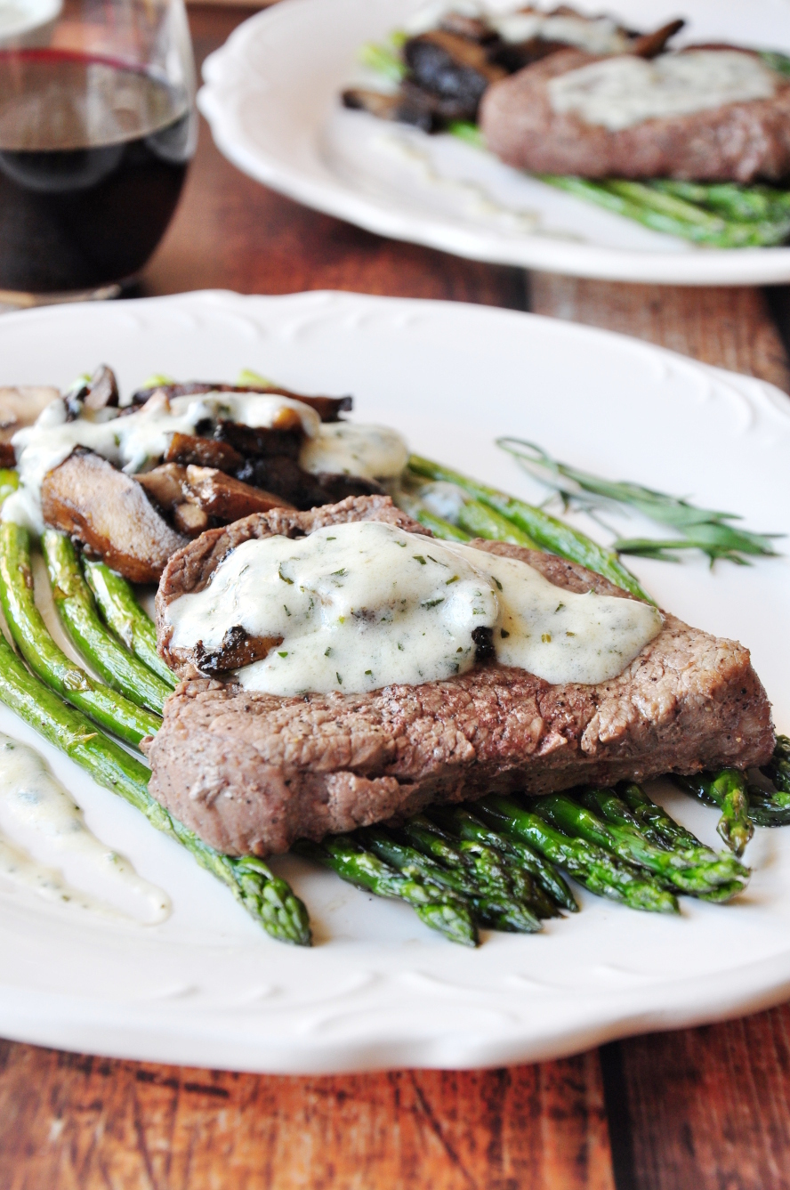 30-Minute Perfectly Broiled Steak & Vegetables With Béarnaise
