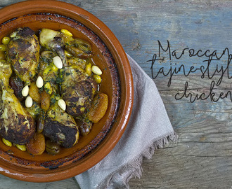 Maroccan tajine-style chicken thigs per il Club del 27