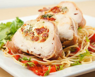 Ricotta and Sun Dried Tomato-Stuffed Chicken Breasts