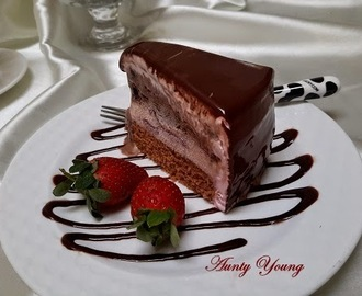 巧克力草莓冰淇淋蛋糕 (Chocolate-Strawberry Ice cream Cake)