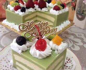 Tuitti Fruity Pandan Layer  Cake 水果香兰千层蛋糕