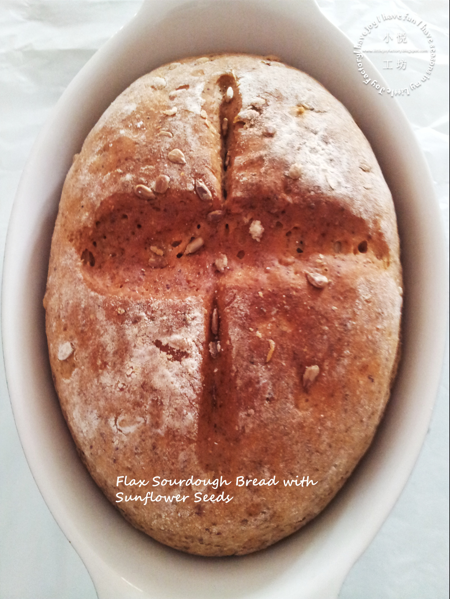 No Knead Flax Sourdough Bread