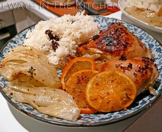 Roasted Chicken with Mandarins & Ouzo (Plus: International Bento: Jerusalem)