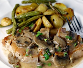 Seared Pork Chops with Mushroom Gravy