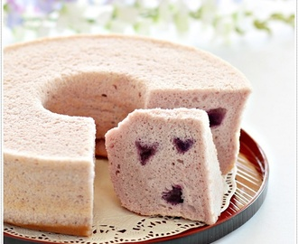 Purple Sweet Potato Chiffon Cake 紫薯戚风蛋糕