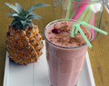 Pineapple strawberry smoothie
