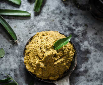 Pirandai Mint Thuvaiyal / Adamant Creeper Chutney