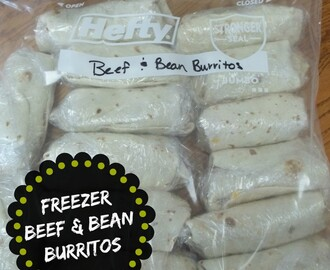 Freezer Beef & Bean Burritos