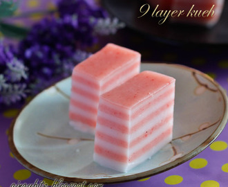 9 Layer Kueh Made with Natural Coloring