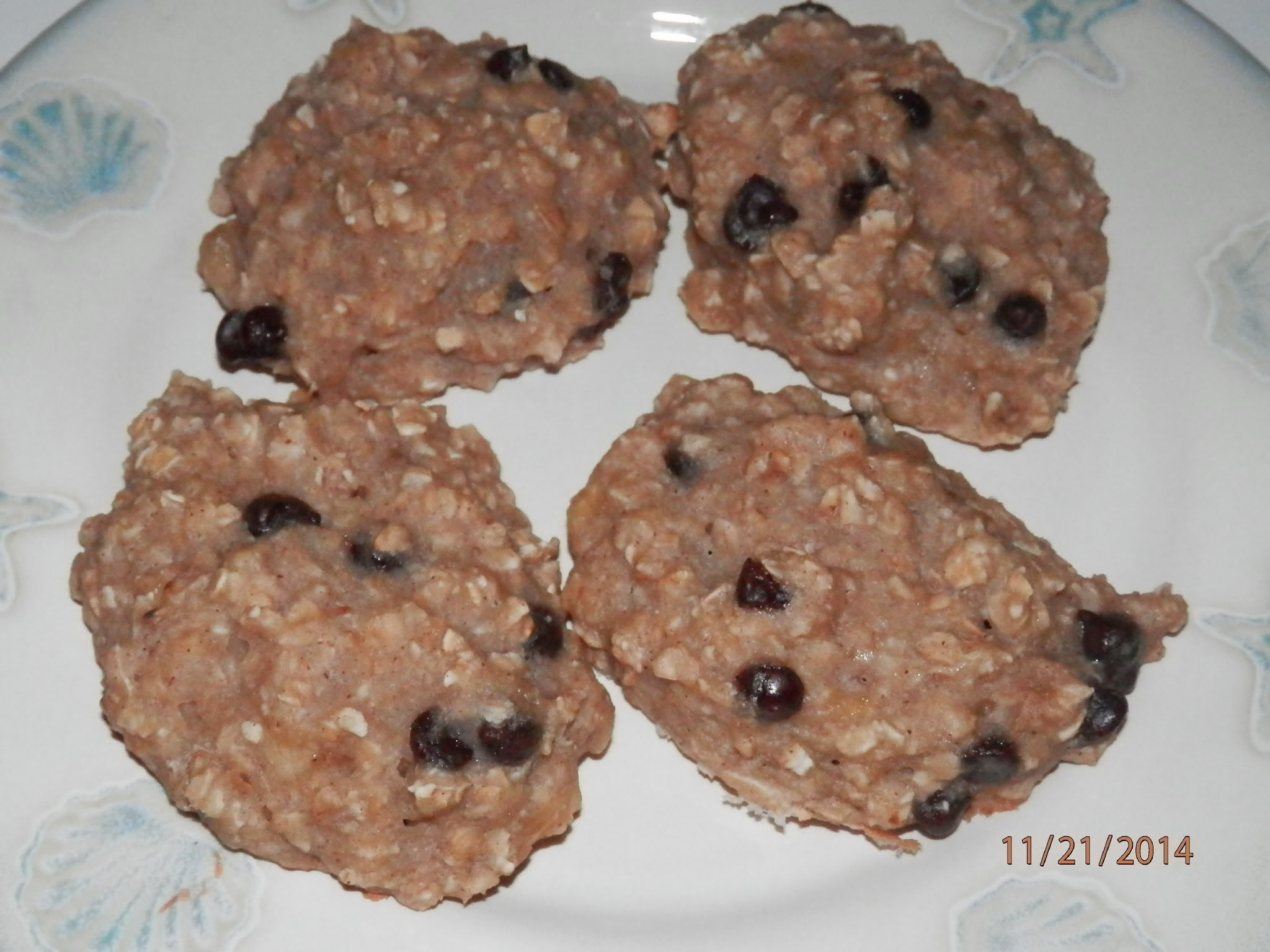 Egg Free, Dairy Free, Nut Free Banana Chocolate Chip Oatmeal Cake Cookies