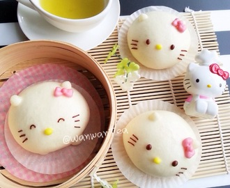 凯蒂猫流沙包Hello KItty Salted Egg Yolk Custard Buns