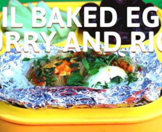 Foil Baked Egg Curry and Rice Recipe