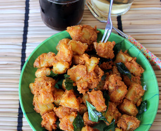 Aloo 65 - Potato 65 - Deep fried Potato - Urulai Kizhangu 65 - Potato Fritters - Fried Snack recipe - Party food