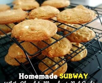 Homemade SUBWAY White Chocolate Macadamia Nut Cookies 白巧克力夏威夷豆软曲奇(中英食谱教程)