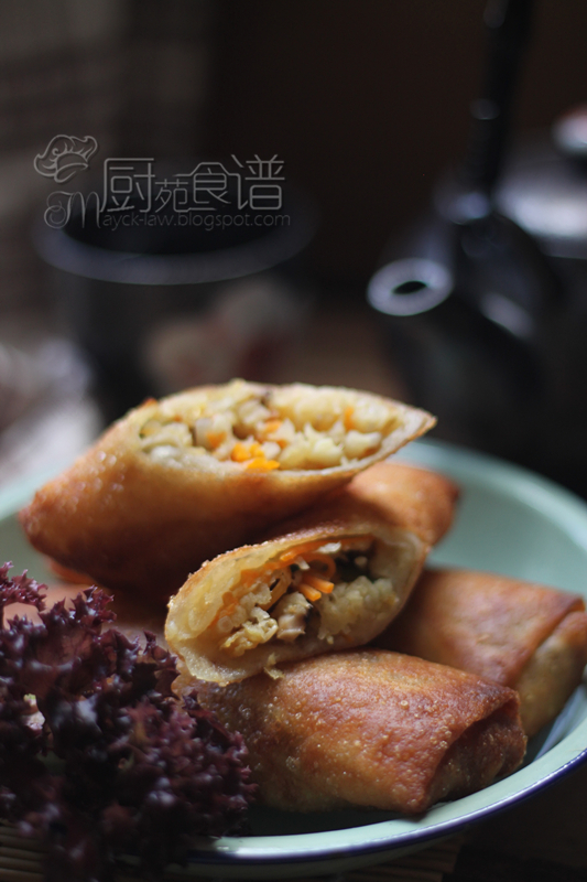 最佳食谱#12~点心 (饮茶咯!) 五香沙葛春卷【24】  (BREE# 12~ Dim Sum, Spring Roll with shredded sweet turnip)