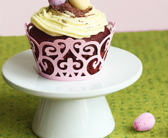 Easter Double Chocolate Cupcakes with Vanilla Buttercream
