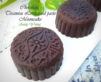 巧克力提拉米苏莲蓉月饼 (Chocolate Tiramisu Lotus seed paste Mooncake)