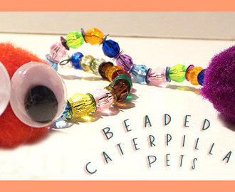 Beaded Caterpillar Craft For Kids