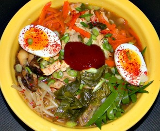 Korean Chicken Noodle Bowl ♥ Two For One - Recipe ReDux Challenge March 2015