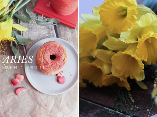 {Spring Equinox} Aries Birthday Post & Recipe: Strawberry Jelly Donuts