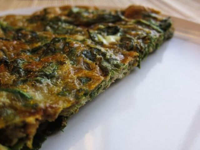 OVEN-BAKED RICOTTA AND SPINACH FRITTATA