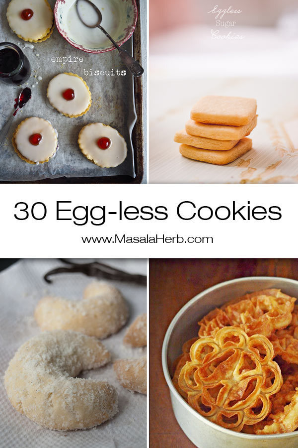 30+ Eggless Cookies Recipes – Easy Cookies without eggs