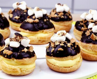 How to Make S'mores Cream Puffs!