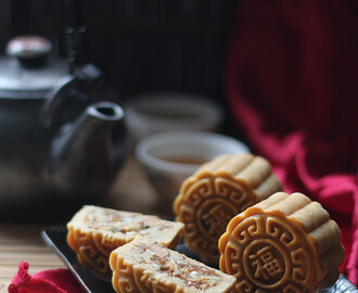 广式五仁月饼【Traditional Mixed Nuts Mooncakes】
