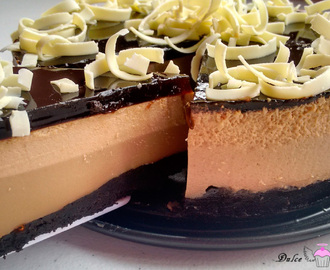 Tarta de café y chocolate blanco
