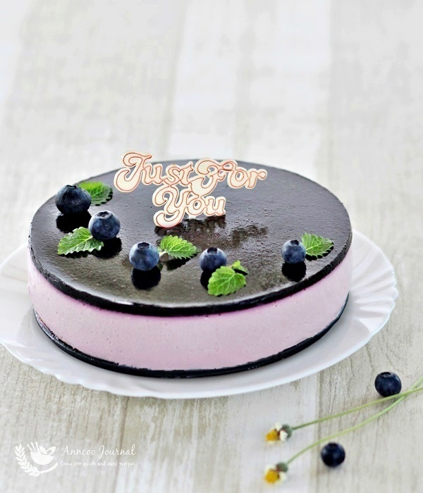 No-Bake Blueberry Yogurt Cheesecake 免考蓝莓优格芝士蛋糕