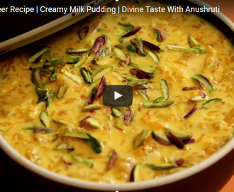 Orange Kheer Recipe Video