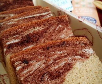 The Ogura Craze : Marbled Chocolate & Coffee Ogura Cake [30 Oct 2015]