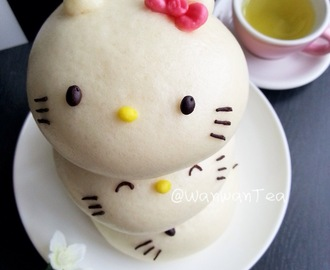 又见凯蒂猫流沙包Hello KItty Salted Egg Yolk Custard Buns